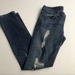 Armani Exchange light wash distressed jeans 8 reg